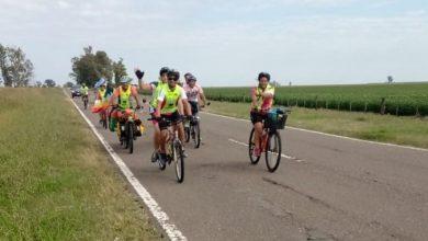 Photo of Ayer el grupo de ciclistas no videntes pasó por Marcos Juárez