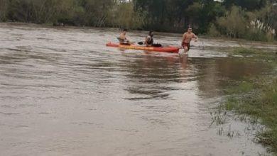 Photo of Bomberos rescataron a una persona del río crecido