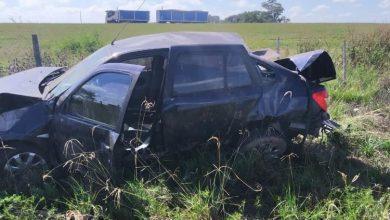 Photo of General Roca: Vuelco de un automóvil sobre autopista en el km 418