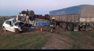 Photo of Cañada de Gómez: Accidente fatal sobre ruta 9 km 386